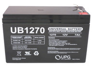 "12 Volt 7ah Rechargeable Battery with F1 (.187"") Terminals"
