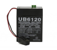 D5737 UB6120TOY 6V 12AH Sealed Lead Acid Battery - Wire Lead| Battery Specialist Canada