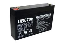 6V 7.2AH Sealed Lead Acid (SLA) Battery for UB670 DJW6-7.2 652007 MX06065 NP76 | Battery Specialist Canada