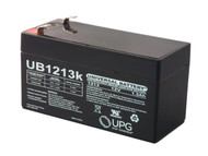 12V / 1.3Ah Sealed Lead Acid Battery with F1 (.187in) Terminals - UB1213| Battery Specialist Canada