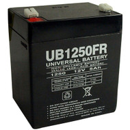 RBC43 Flame Retardant Universal Battery - 12 Volts 5Ah - Terminal F1 - UB1250FR - 8 Pack| Battery Specialist Canada
