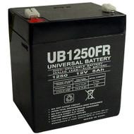 RBC42 Version 2 Flame Retardant Universal Battery - 12 Volts 5Ah - Terminal F1 - UB1250FR  Battery Specialist Canada