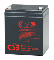 F6C550fcAVR High Rate CSB Battery - 12 Volts 5.1Ah - 21 Watts Per Cell - Terminal F2  - 2 Pack| Battery Specialist Canada