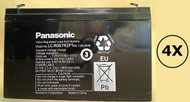 RB0670X4 Panasonic Battery - 6 Volts 7.2Ah - Terminal F2 - LC-R067R2P1 - 4 Pack| Battery Specialist Canada