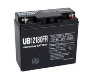 2130R6X Flame Retardant Universal Battery -12 Volts 18Ah -Terminal T4- UB12180FR - 2 Pack  Battery Specialist Canada