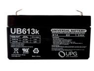 3624 TELLER Universal Battery - 6Volts 1.3Ah - Terminal F1 - UB613 Front| batteryspecialist.ca