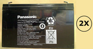 78333A Panasonic Battery - 6 Volts 7.2Ah - Terminal F2 - LC-R067R2P1 - 2 Pack| Battery Specialist Canada