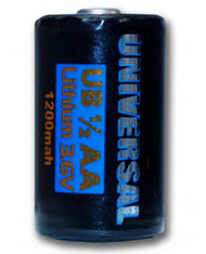 Universal 1/2 AA - 3.6V Lithium Cell - 2400 mAh - 88041 | Battery Specialist Canada