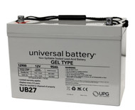 UB27 Gel - 12 Volts 90Ah - Terminal Z1 - Group 27 | Battery Specialist Canada