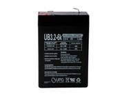 6 Volts 3.2Ah -Terminal F1 - SLA/AGM Battery - UB632| Battery Specialist Canada