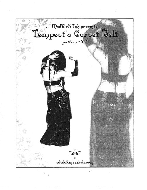 Belly Dance / Tribal / Fusion Pattern by Tempest - Corset Belt Pattern