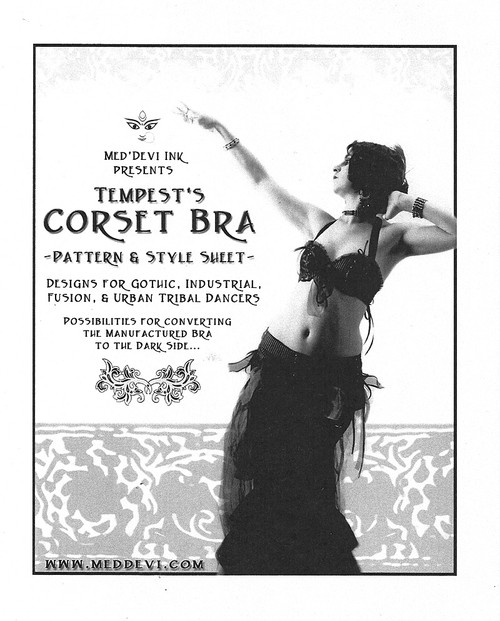 Belly Dance / Tribal / Fusion Pattern by Tempest - Corset Bra Pattern