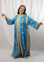 Turquoise Double Caftan from Morocco