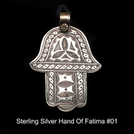 Hand of Fatima - Sterling Silver From Morocco #01