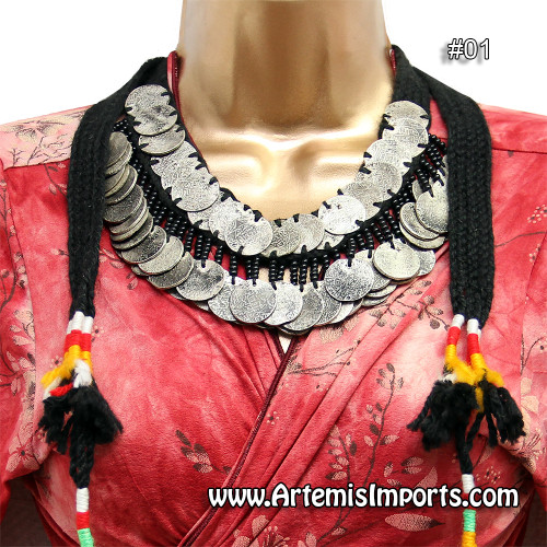 Berber Coin Headpieces, Necklace or Hip Accent #01