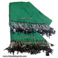 Shikkatt Scarves With Mozuna From Morocco - Belly Dance - Greens