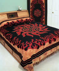 Celtic Print Tapestry Bedspread-Wall Hanging With Fringe