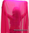 Belly Dance Half Circle Chiffon Veil With Crystals - Fuchsia