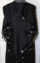 Shikkatt Square Scarves With Looped Fringe & Mozunas From Morocco - Belly Dance (MO-4B)