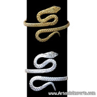 Upper Arm Thick Snake Bracelet for Belly Dance - Gold or Silver