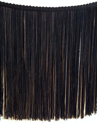 """Belly Dance Make It Yourself ~ Black 8"""" Rayon Chainette Fringe"""