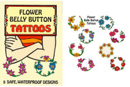Flower Belly Button Tattoos ~ Temporary for Tribal Belly Dance ~ Eight lovely floral tattoos, designed in the form of delicately curved wreaths to encircle belly buttons of all shapes and sizes, include brightly colored lilies, daisies, pansies, tulips, and other flowers. Complete instructions for safe application and removal included.