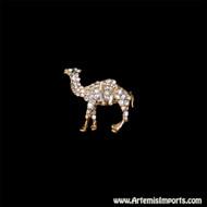 Adorable Camel Rhinestone Brooch (Pin)