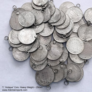 """Belly Dance /Tribal Coins for Costuming - """"Antique Look"""" Coin 25mm, Silver Tone ~ $0.75 each"""