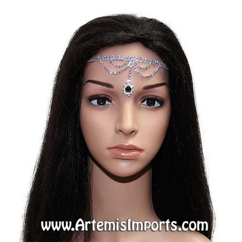 Belly Dance Deluxe Rhinestone Crystal Head Piece (3)