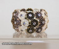 Belly Dance Rose & Rhinestone Stretch Bracelet