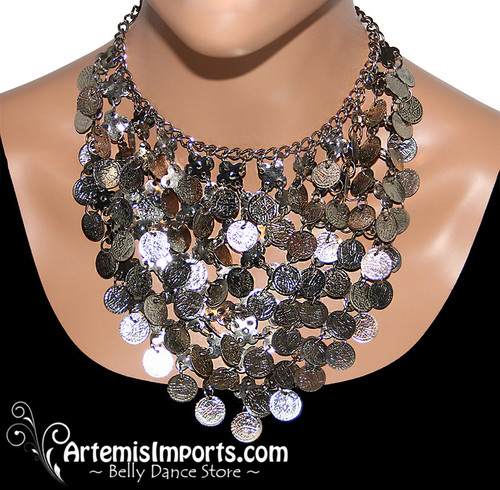 Egyptian Coin Necklace - Gold or Silver