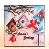 Season's Greetings Clear Stamp Set w/ FREE Die Set