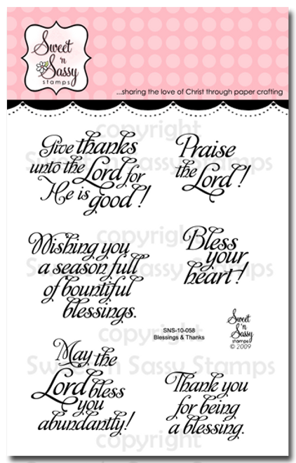 Blessings & Thanks Clear Stamp Set