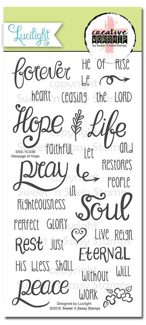 Creative Worship: Message of Hope Clear Stamp Set