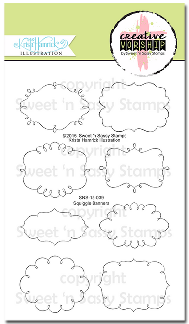 Creative Worship: Squiggle Banners Clear Stamp Set