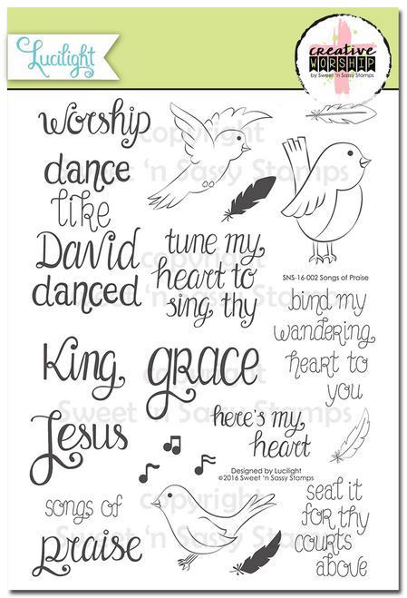 Creative Worship: Songs of Praise Clear Stamp Set