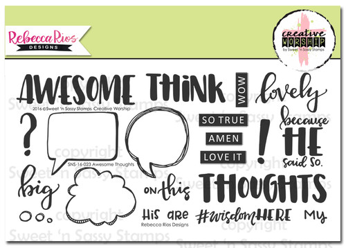 Creative Worship: Awesome Thoughts Clear Stamp Set