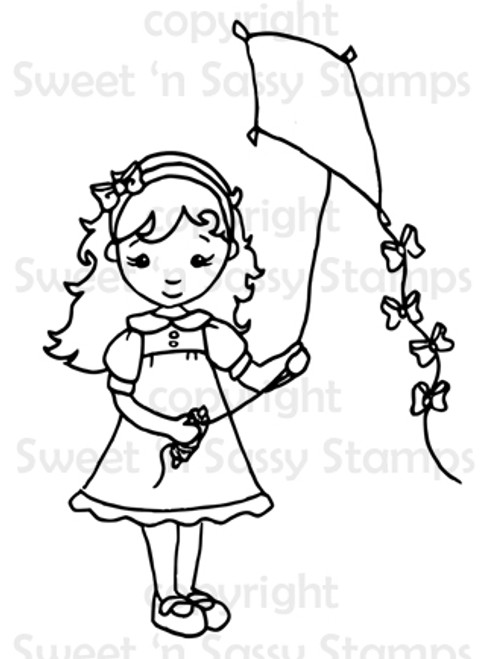 Autumn's Kite Digital Stamp