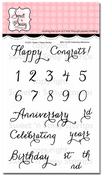 Celebrating Milestones Clear Stamp Set
