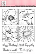 Flower Blocks 2 Clear Stamp Set