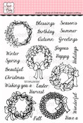 Seasonal Wreaths Clear Stamp Set