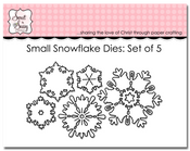 Small Snowflake Dies: Set of 5