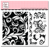 Leafy Flourish Background & More Clear Stamp Set