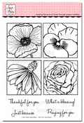 Flower Blocks 3 Clear Stamp Set