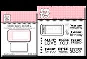 Ticket Sentiments Stamp & Die Bundle