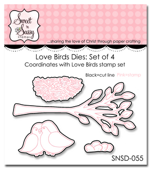 die set lovely birds by sweet n sassy stamps