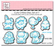 Cute Critters Die Set of 7