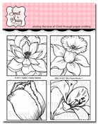 Mini Flower Blocks 1 Clear Stamp Set
