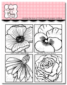 Mini Flower Blocks 3 Clear Stamp Set