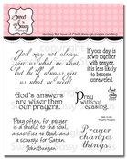 Prayerful Thoughts Clear Stamp Set